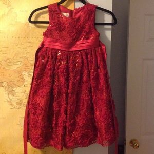 American Princess red sequin and satin dress